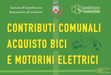Leggi: «Contributi comunali acquisto biciclette e motorini…»
